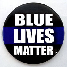 BLUE LIVES MATTER BUTTON PIN BACK
