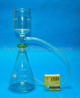 1000ml,24/29,Suction Filtration Kit,70mm Buchner Funnel,1 Litre Erlenmeyer Flask