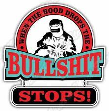 """Hood Drops Welder Weld Welding Helmet Funny Car Bumper Vinyl Sticker Decal 4""""X5"""""""