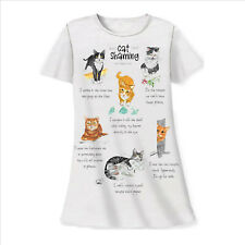 Cat Shaming Sleep Shirt Night Shirt White