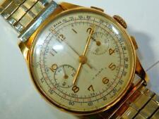 Antique Oversize18K Swiss Chronograph Watch 37MM Diam. Buslik  Venus 13321224