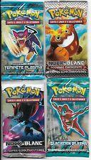 4 boosters  pokemon noir & blanc  mélange de séries