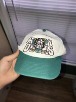 Vintage ANAHEIM THE MIGHTY DUCKS Apparel 1 Snapback Hat NHL Spellout Fire Rare