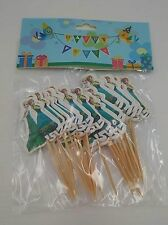 ♛ Shop8 : FROZEN Cupcake Topper Toothpick Flags Cake Decor 24 pcs