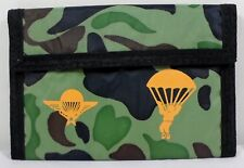 VTG 80's MILITARY 5.5'' SLIM CAMOUFLAGE PARATROOPERS AIR FORCE WALLET w/ ZIPPER