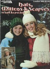 HATS, MITTENS & SCARVES TO KNIT & CROCHET ~ 7 Designs ~ Leisure Arts 186