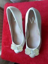 BNWT WOMENS CREAM SATIN WEDDING M STILETTOS PARTYSHOES UK  5 / EUR 38