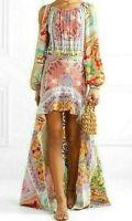 New NWT $1,500 Silvia Tcherassi Grona Cold Shoulder Dress Long Maxi Gown 0 2 XS