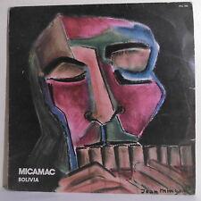 """33T MICAMAC Disque Vinyl LP 12"""" BOLIVIA Bolivie Musique Monde PALMA 105 F Rèduit"""