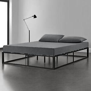 en.casa Metallbett 200x200cm Schwarz Bettgestell Design Bett Schlafzimmer Metall