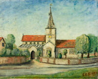 C.V. Clarke - Mid 20th Century Oil, Church
