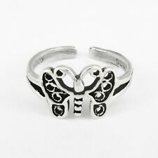 Sterling Silver; New - Usa Seller! Butterfly Toe Ring in Solid 925