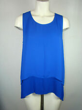 Cremieux Royal Blue Women's Layered Tank Top Size: M Medium