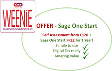 Self Assessment/Tax Return with FREE Sage One Start software