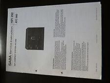 Original Service Manual Saba HIFI 292 ATC 950