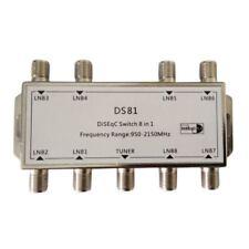 8x1 8/1 DiSEqC Switch Switch Sat Distributor Switch for 8 satellites Z7Q3
