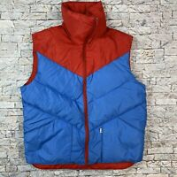 Vintage Penfield Mens Medium Blue Red 60/40 Down Feathers Puffer Vest