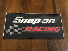 Snap-On Racing Tool Box Sticker Chequered Flag Decal Genuine 7in Wide