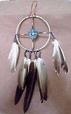Native Navajo Handmade Leather Medicine Wheel  M0029