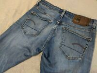 G-STAR RAW DENIM 3301 DECONSTRUCTED SUPER SLIM HERREN JEANS BLAU GR. W31 L32