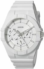 GUESS Womens Quartz Rubber and Silicone Casual Watch, Color:White Model: U0942L1