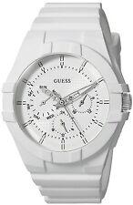 GUESS Womens Quartz Rubber and Silicone Casual Watch, Color:White Model: U0942L1