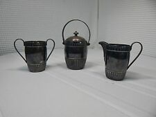 Vintage! Middletown Plate Company 3Pc.Creamer & Sugar Tea/Coffee Set No. #555