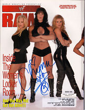 CHYNA WWF RAW SIGNED AUTOGRAPHED MAGAZINE MARCH 1999 wrestler WWE Signature