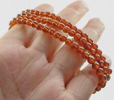 4mm Natural Orange Garnet Hessonite Bead Bracelet CGXs635