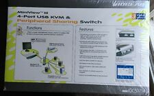 Miniview 3 4 Port Usb Kvm& Peripheral Sharing Switch