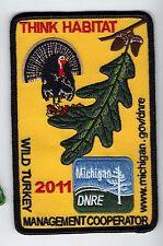2011 MICHIGAN DNR SUCCESSFUL TURKEY-DEER HUNTER PATCH -HUNTING LICENSES- PINBACK