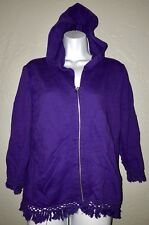 Chico's Size 1 Zenergy Purple Full Zip Hoodie Jacket.                        A1