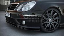 FRONT SPLITTER (GLOSS BLACK) FOR MERCEDES E-CLASS W211 AMG FACELIFT (2006-2009)