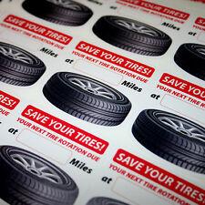 1000 Generic Tire Rotation Reminder Service Sticker White Low Tack Lotac Vinyl