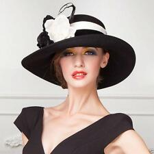 New Women's Kentucky Derby Church Wedding Noble Dress party banquet  wool Hats