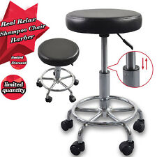Adjustable Barber Chair Tattoo Salon Stool Hydraulic Rolling Hair Massage Spa US
