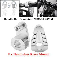 1 Pair Universal Rotating Motorcycle Bike Handlebar Riser 22mm / 28mm Bar Clamp