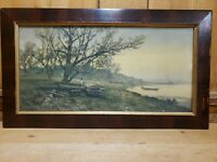 Frank F. English print Lithograph Signed and Copyright of 1907 23 5/8 x 13 1/2""