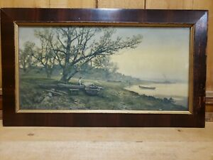 """Frank F. English print Lithograph Signed and Copyright of 1907 23 5/8 x 13 1/2"""""""