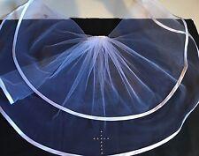 Holy Communion Diamante Cross Veil