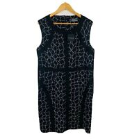 Basque Womens Dress Size 16 Pencil Business Black Dress New With Tags RRP $149