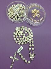 7MM Real Mother of Pearl Beads Catholic Rosary-Blessed by Pope on request-ITALY