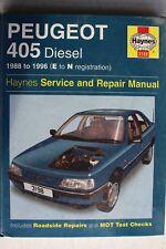Peugeot 405 Diesel 88-96 USED Haynes Workshop Service & Repair Manual 3198-256