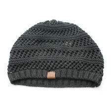 e77a6b03b5cf4 ROOTS Knitted Ribbed Charcoal Grey Hat - One Size