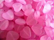 50 X De Acrílico Transparente corazón granos para joyas y los proyectos CRAFT Poste LIBRE