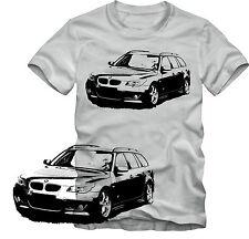 T-Shirt  BMW E61 5er Touring  Tuning T-Shirt   Retro Style S/W Grafik DTG