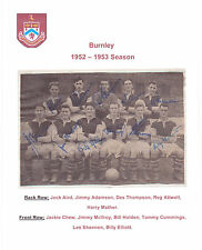 BURNLEY 1952-1953 RARE ORIGINAL HAND SIGNED TEAM GROUP FULLY SIGNED BY ALL 11