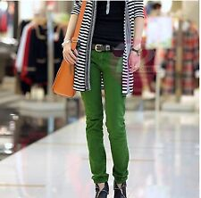 """Superbe jean vert """" Vogue Korean Style Lace Candy Color Jeans"""",taille S +neuf++f"""