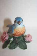 1986 Lenox Eastern Bluebird Garden Birds Porcelain Figurine Sculpture Mint