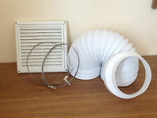Ducting Kit for Chimney Hoods 125mm/5 Inch 3 metre Complete Kitchen Fan Vent